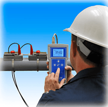 greyline portable transit time flow meter