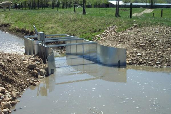 steel ramp flume
